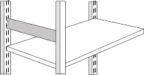 Kerkmann 8476 Seitensteg für Regaltiefe 50 cm