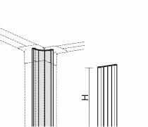 Geramöbel Winkelverbindung 90°-180° für Trennwände Eco ZBS27R12 Aluminium Höhe 1200mm