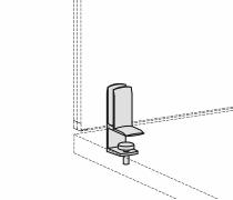 Geramöbel Tischklemme für Trennwände Eco ZBS27S03 Aluminium 2er-Set