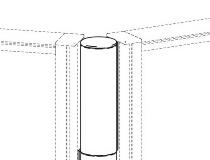 Geramöbel Verbindungssäule für Trennwände Pro ZBS41R12 variabel bis 5 Elemente Höhe 1200mm