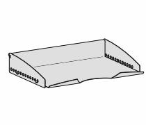 Geramöbel Schale DIN A4 quer ZBS41S14 zum Einhängen in der Funktionsleiste