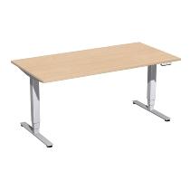 Geramöbel 08E1608 Elektro-Hubtisch Elektro Pro+ (BxTxH) 1600x800x625-1285mm Buche/Silber