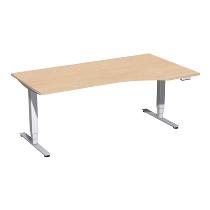 Geramöbel 08E1811 Elektro-Hubtisch Pro+ Freiform rechts (BxTxH) 1800x1000x625-1285mm Buche/Silber