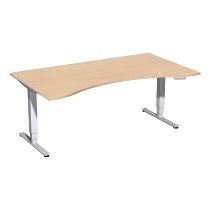 Geramöbel 08E1822 Elektro-Hubtisch Pro+ ERGOform (BxTxH) 1800x1000x625-1285mm Buche/Silber