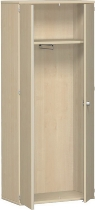 Geramöbel Garderobenschrank Pro 10AG508 abschließbar (BxTxH) 800x425x1920mm Ahorn/Ahorn