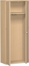 Geramöbel Garderobenschrank Pro 10AG508 abschließbar (BxTxH) 800x425x1920mm Buche/Buche