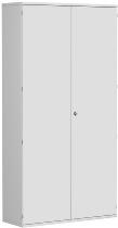 Geramöbel Garderobenschrank Pro 10AG612 abschließbar (BxTxH) 1200x425x2304mm Lichtgrau/Lichtgrau