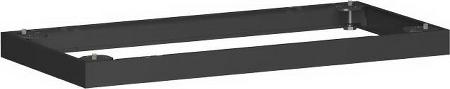 Geramöbel Metallsockel Höhe 50mm 10MS06 Schrankprogramm Pro für Schrankbreite 600mm Schwarz