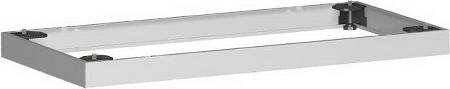 Geramöbel Metallsockel Höhe 50mm 10MS08 Schrankprogramm Pro für Schrankbreite 800mm Silber