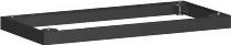 Geramöbel Metallsockel Höhe 50mm 10MS08 Schrankprogramm Pro für Schrankbreite 800mm Schwarz