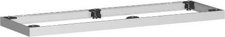 Geramöbel Metallsockel Höhe 50mm 10MS12 Schrankprogramm Pro für Schrankbreite 1200mm Silber