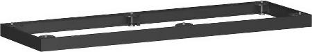 Geramöbel Metallsockel Höhe 50mm 10MS16 Schrankprogramm Pro für Schrankbreite 1600mm Schwarz