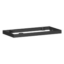 Geramöbel Metallsockel höhe 50mm 10MSQ08 für Querrollladenschrank Schrankbreite 800mm Schwarz