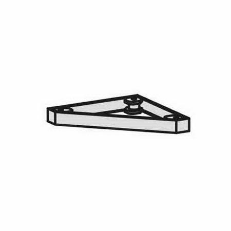 Geramöbel Metallsockel Höhe 50mm 10MSRE Serie Pro für Eckabschlussregal Schwarz