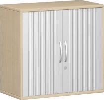Geramöbel Anstell-Querrollladenschrank Pro 10Q7208 mit Stellfüßen (BxTxH) 800x425x720mm Silber/Ahorn