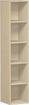 Geramöbel Regal 5OH Serie Pro 10R504 mit 4 Einlegeböden (BxTxH) 400x425x1920mm Ahorn