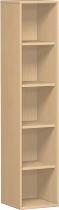 Geramöbel Regal 5OH Serie Pro 10R508 mit 4 Einlegeböden (BxTxH) 800x425x1920mm Ahorn