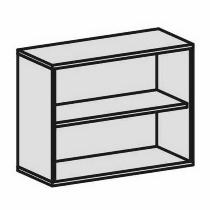 Geramöbel Anstell-Regal 2OH Serie Pro 10R7210 mit 1 Einlegeboden (BxTxH) 1000x425x720mm Ahorn