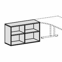 Geramöbel Anstell-Regal 2OH Serie Pro 10R7212 mit 2 Einlegeböden (BxTxH) 1200x425x720mm Ahorn