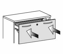 Geramöbel Softeinzug 10SKD für Schubkästen und Hängeregistraturauszüge 1 Stück pro Schub notwendig