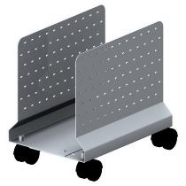 Geramöbel N-500914 CPU-Car (BxTxH) 16-26 x36 x35cm Lochblechseitenteile Silber