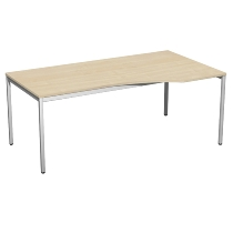 Geramöbel 520140 Schreibtisch PC rechts feste Höhe 72cm (BxT) 180x100cm Ahorn/Lichtgrau