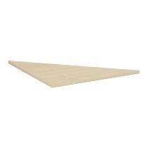 Geramöbel 520508 Verkettungsplatte 4-Fuß ECO Dreieck 90° feste Höhe 72cm (BxT) 80x80cm Ahorn