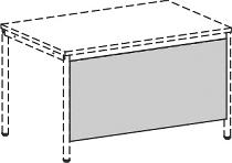 Geramöbel 520601 Knieraumblende mit Montage-Set (BxH) 80x52cm Ahorn