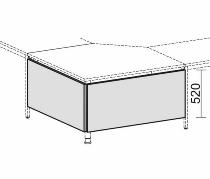 Geramöbel 520624 Knieraumblende für Fünfeckplatte 90° H 52cm (2er Set) Ahorn