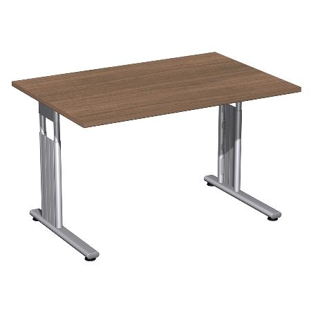 Geramöbel Schreibtisch 617103 C-Fuß Flex höhenverstellbar 68-82cm (BxT) 160x80cm Ahorn/Silber