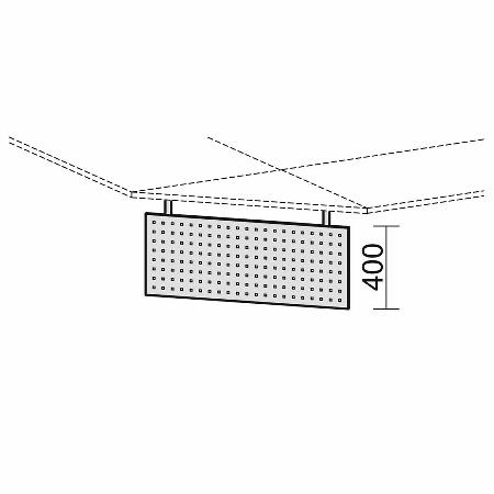 Geramöbel Knieraumblende 617601-S C-Fuß Flex Sichtblende aus Lochblech (BxH) 58 x 40cm Silber