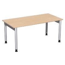 Geramöbel 657103 Schreibtisch 4-Fuß PRO höhenverstellbar 68-82cm (BxT) 160x80cm Buche/Silber