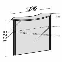 Geramöbel Thekenelement 90° 830290 Oberboden geschwungen für Tischbreite 800mm Ahorn