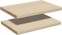 Geramöbel Einlegeböden 2er-Set 830601 für alle Thekenelemente mit Fachseiten Ahorn