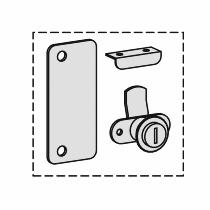 Geramöbel 301010 Nachrüstschloss für Flügeltürschränke