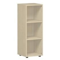 Geramöbel Regal 343001-A Flex Regal 3OH mit Standfüßen (BxTxH) 40 x 40 x 110,4cm Ahorn