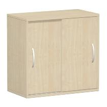 Geramöbel 382501 Schiebetürenschrank 2OH nicht abschließbar (HxBxT) 752x800x400mm Ahorn/Ahorn