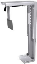 Geramöbel CPU-Halter 500915 unter Tischplatte zu montieren (BxTxH) 78-220 x122x307-532mm Silber