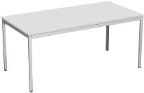 Geramöbel K520103 Konferenztisch Viereckfuß feste Höhe (BxTxH) 160x80x72cm Lichtgrau/Lichtgrau