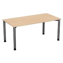 Geramöbel Schreibtisch 555103 4-Fuß Flex höhenverstellbar 68-80cm (BxT) 160 x 80cm Weiß/Anthrazit
