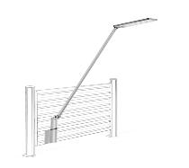 Novus 730+2179 Schreibtischleuchte Attenzia complete mit SlatWall Adapter Silber