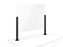 Novus 854+0205 POS Protect G Acrylglastrennwand (BxH)75x50mm mit Kabellochbefestigung Anthrazit