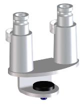 Novus 898+0049+001 Clu Zwinge DUO KH 13-25mm KT 25mm Silber