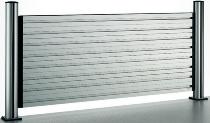 NOVUS 974+0805 SlatWall Organisationswand 80cm mit 2 TSS-Säulen 445mm und 4 Elementen