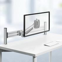Novus 990+1079 Monitorarm SlatWall-Clu-Arm I mit SlatWall Adpater bis 8kg Silber
