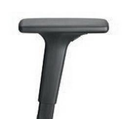 Dauphin 4F-Armlehnen A441KGS, Auflagen PU-Pad soft, Träger Kunststoff schwarz