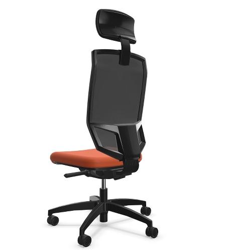 Dauphin Bürodrehstuhl @Just magic2 mesh XS QS-Mechanik hohe Rückenlehne Ergo-Nackenlehne verkürzter Sitz - KONFIGURIERBAR
