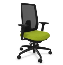 Dauphin Indeed mesh ID7056 Bürodrehstuhl hohe Netz-Rückenlehne (Kunststoff-Außenschale) KONFIGURIERBAR