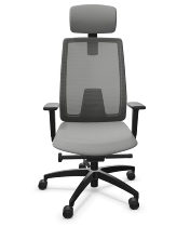 Dauphin Indeed mesh ID7058 Bürodrehstuhl hohe Netz-Rückenlehne Nackenstütze (Kunststoff-Außenschale) KONFIGURIERBAR
