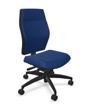 Dauphin Bürodrehstuhl Shape XTL mittelhohe Vollpolsterrückenlehne außen Textilbespannung schwarz - KONFIGURIERBAR